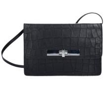 Croco Barolo Umhängetasche Leder 24 cm schwarz