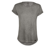 T-Shirt in Cold-Dyed-Optik grau