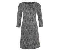Jerseykleid mit 3/4-Ärmeln grau / schwarz