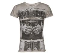 T-shirt 'MT NEW York round' silbergrau