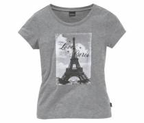 T-Shirt mit Fotodruck für Mädchen graumeliert