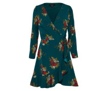 Kleid in Wickel-Optik grün