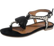 Sandaletten 'Nantes' mischfarben / schwarz / weiß