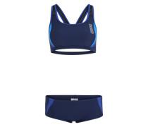 Sportbikini 'Hypnos' blau / schwarz