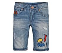 Jeansshorts Petzie mit Patches für Jungen blau