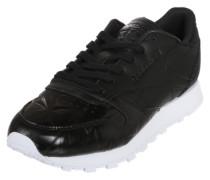 Sneaker 'CL Lthr Hype Metalli' schwarz / weiß