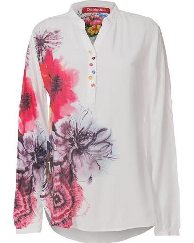 Bluse mischfarben / weiß