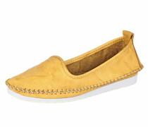 Slipper gelb / weiß