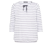 Jersey-Tunika anthrazit / weiß