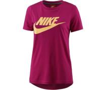 T-Shirt 'Essential High Brand Read' pastellgelb / fuchsia