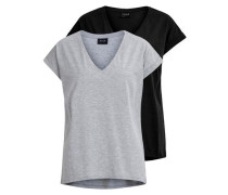 T-Shirt 2-er Pack grau
