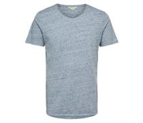 T-Shirt Rundhalsausschnitt blaumeliert / graumeliert