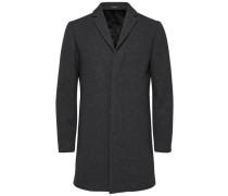Mantel Wolle und Kaschmir grau
