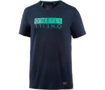 'Duo Hybrid' T-Shirt türkis / nachtblau