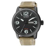 Armbanduhr 'bm8476-23Ee' hellbraun / schwarz