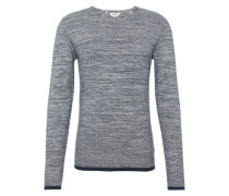 Pullover 'Marius' dunkelblau / offwhite