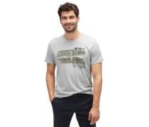 T-Shirt T-Shirt mit Schrift-Print grau