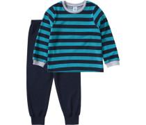 Schlafanzug für Jungen blau / jade