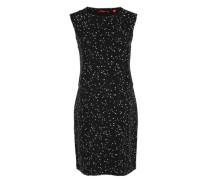 Sternchen-Kleid mit Layering schwarz