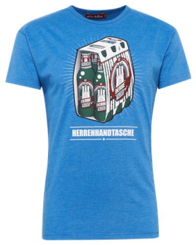 Shirt 'Herrenhandtasche Reloaded' blau