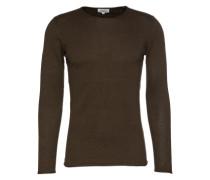 Pullover 'fine melange basic pullover' oliv
