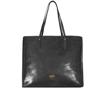 Story Donna Shopper Tasche Leder 38 cm schwarz