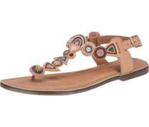 Sandaletten hellbeige / cognac