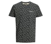 Bedrucktes T-Shirt schwarz