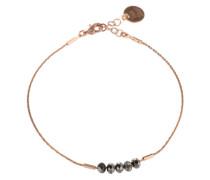 Armband mit Glasperlen gold / pink