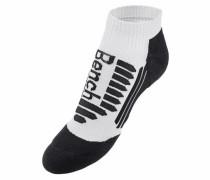 Sport-Sneakersocken (2 Paar) schwarz / weiß