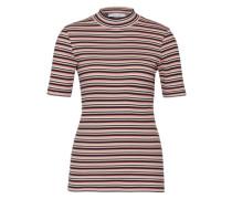 Streifenshirt 'Neval' rosa / schwarz