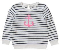 Pullover 'nitfiona' für Mädchen Organic Cotton dunkelblau / rosa / weiß