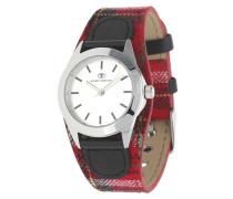 Armbanduhr 5408001 rot / schwarz / silber