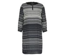 Kleid mit grafischem Muster grau