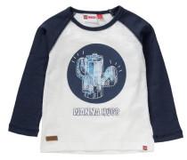Baby Langarmshirt blau / weißmeliert
