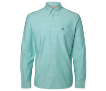 Oxford-Langarmhemd jade