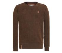 Male Sweatshirt 'Tinte Aufm Füller Iii' dunkelbraun