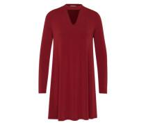 Kleid mit Stehkragen rot