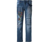 Jeans mit Wendepailletten für Mädchen blau