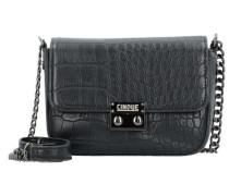 Donna Umhängetasche Leder 15 cm schwarz