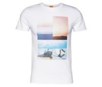 T-Shirt mit Foto-Print 'Tacket 3' weiß