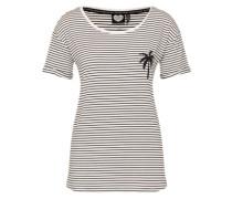 Shirt 'good Vibes' schwarz / weiß