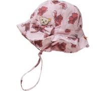 Baby Hut für Mädchen rosa / pastellrot / weiß