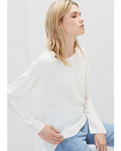s oliver damen s oliver elegante long style bluse wei reduziert. Black Bedroom Furniture Sets. Home Design Ideas