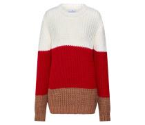 Pullover 'benvinda' rot / weiß