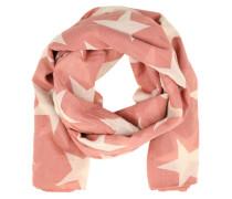 Feiner Baumwollschal 'Fine Twilight' beige / pink