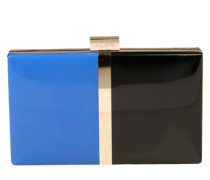 Clutch im Colorblocking-Design 'Pearson' blau / schwarz