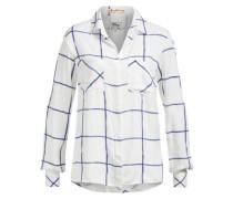 Shirt 'dimples' blau / weiß