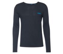 Shirt 'fine knitted longsleeve' dunkelblau