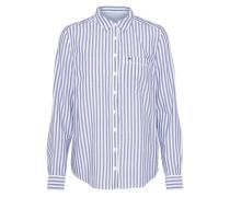Klassische Bluse 'tjw Basic REG STP Shirt L/S 11' marine / weiß